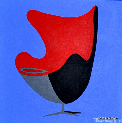 """""""Egg Chair"""" - 12x12 framed - $275 - Contact Me"""