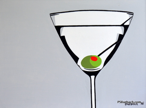 """""""Martini"""" - 18x24 framed - $395 - Contact Me"""