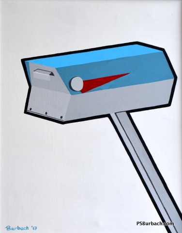 """""""Mailbox"""" - 18x24 framed - $350 - Contact Me"""