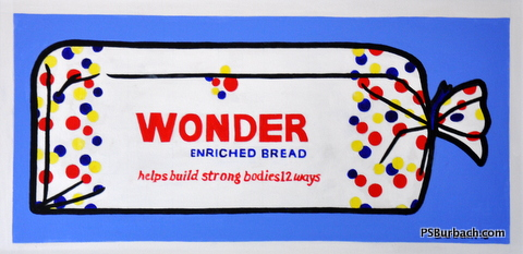 """""""Wonder Bread"""" - 12x24 framed - $325 - Contact Me"""