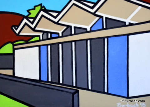 """""""Wexler Steel House"""" - 16x20 framed - $325 - Contact Me"""